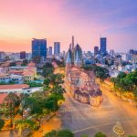 Saigon Notre Dame Cathedral at dawn