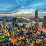 Sunrise in Ho Chi Minh city